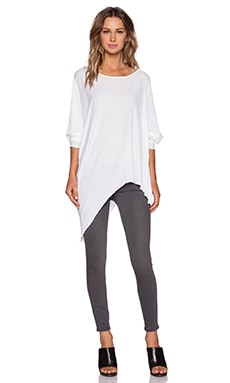KES Asymmetric Tunic in White