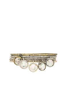 Brianna Charm Bangle Set in Mixed Metal