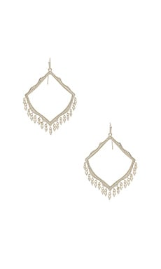 Lacy Earrings in Rhodium
