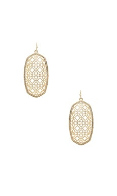 Danielle Earring in Gold Filigree