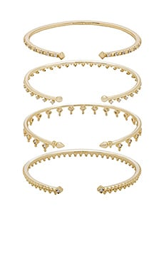 Delphine Pinch Bracelet Set of 4