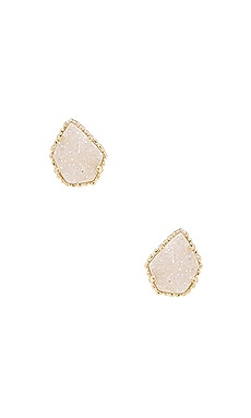 Tessa Earring in Gold Iridescent & Drusy