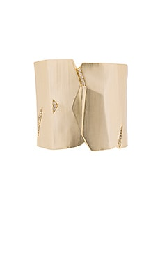 Kendra Scott Constance Cuff in Gold & White