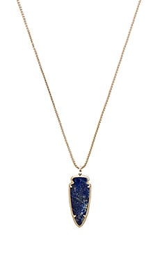 Kendra Scott Kimmy Necklace in Gold & Natural Cut Lapis