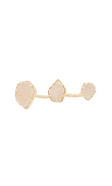 Kendra Scott Naomi Ring Iridescent Drusy in Gold