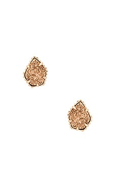 Kendra Scott Tessa Earrings & Rose Gold Drusy in Rose Gold