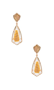 Carey Earring in Rose Gold & Brown Mother Of Pearl