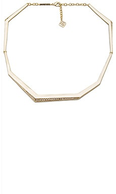 Kendra Scott Lucas Necklace in Gold & White