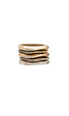 Kendra Scott Joel Set Of 5 Ring in Mixed Metal