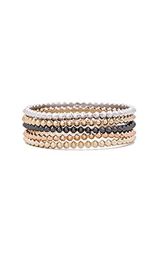 Remy Bangles Set in Mixed Metals