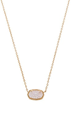 Kendra Scott Elisa Necklace in Rose Gold & Iridescent Drusy