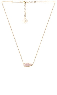 Kendra Scott Kasey Necklace in Gold & Iridescent Drusy