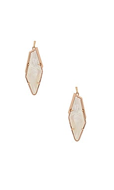 Bexley Earring in Rose Gold & Ivory Mother Of Pearl