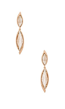 Maisey Hourglass Earring in Gold Dusted Glass