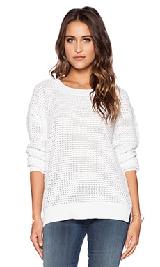 Kingsley St. Tropez Cable Knit Sweater in White
