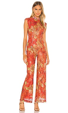 Red Lace Jumpsuit Kim Shui $350