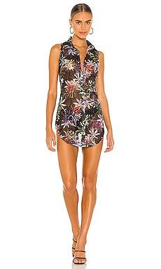 Sheer Tropic Mesh Mini Dress Kim Shui $242