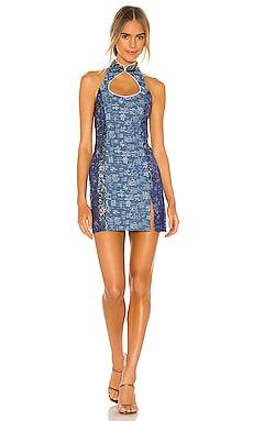 Denim Mini Combo Dress Kim Shui $338