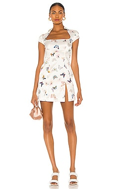 Butterfly Silk Mini Dress Kim Shui $395 NEW