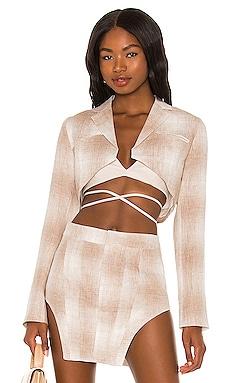 Cropped Linen Blazer Kim Shui $289