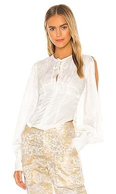 Silk Shirt Bustier Kim Shui $275