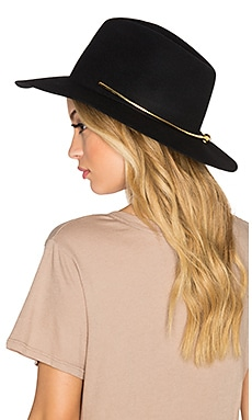 KIN/K Birkin Gold Collar Hat in Black