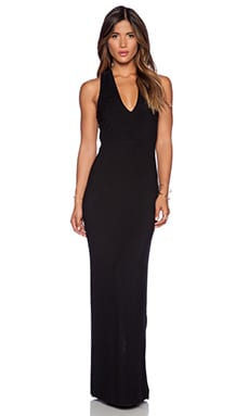krisa Cross Back Maxi Dress in Black