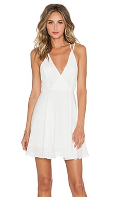 krisa Cross Back Mini Dress in Ivory