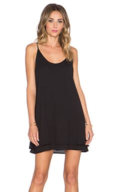 krisa Double Layer Mini Dress in Black