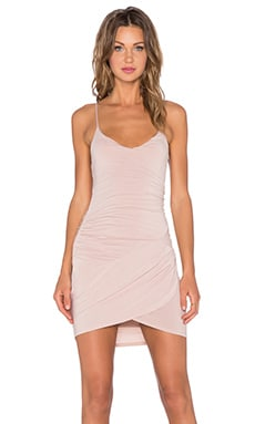 krisa Gather Cami Dress in Nude
