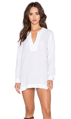 krisa Caftan Tunic in White
