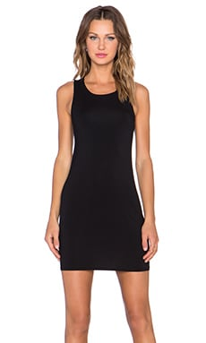 krisa Drape Back Tank Dress in Black