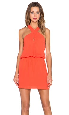 krisa Cross Front Dress in Flame