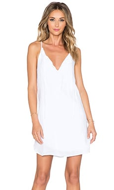 krisa Tie Front Mini Dress in White