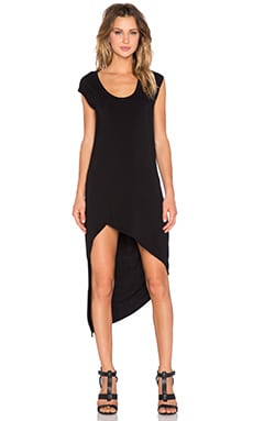 krisa Asymmetrical Tank Dress in Black