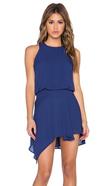 krisa Asymmetrical Mini Dress in Harbor
