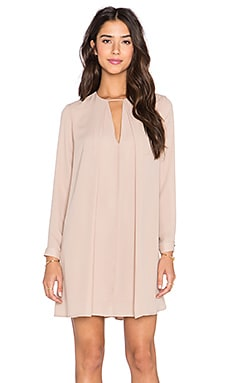 krisa Long Sleeve Swing Dress in Plaster