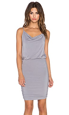 krisa Drape Cami Dress in Wolf