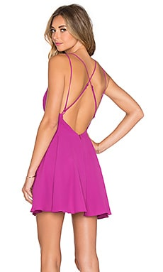 Cross Back Mini Dress in Huckleberry