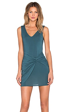 krisa Knotted Ruched Dress in Twilight