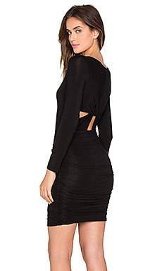 krisa Back Twist Dress in Black
