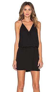 krisa Front Cross Tank Dress in Black