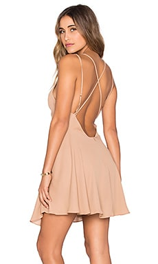 Cross Back Mini Dress in Camel