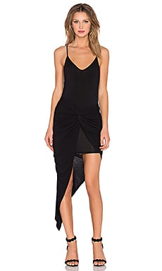 krisa Knotted Cami Maxi Dress in Black