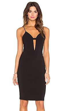 Deep V Cami Dress in Black