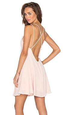 krisa Cross Back Mini Dress in Ballet