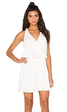 Surplice Flounce Dress