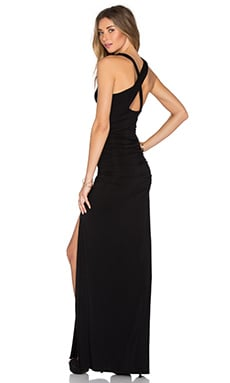 Open X-Back Maxi Dress in Black