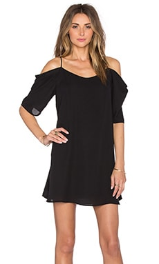 krisa Off Shoulder Mini Dress in Black