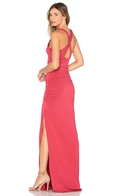 Open X-Back Maxi Dress in Rose